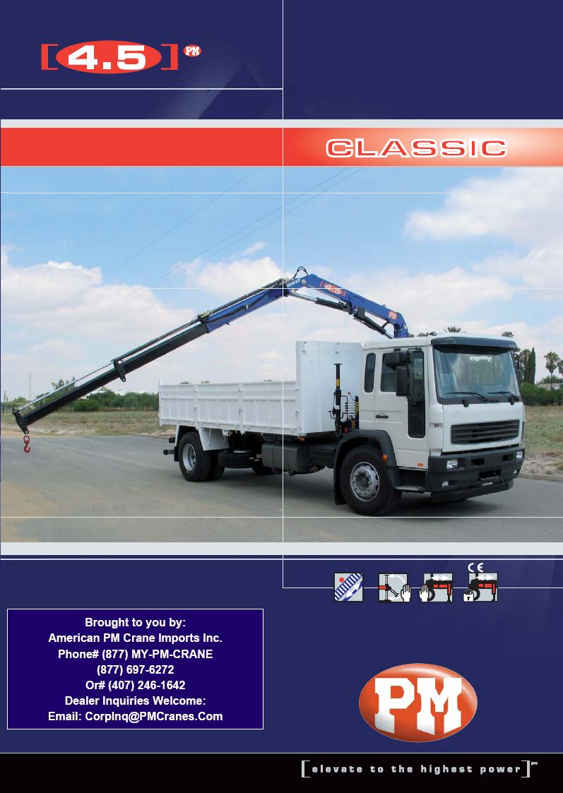 PM 4.5 Ton Knuckleboom Articulating Crane.