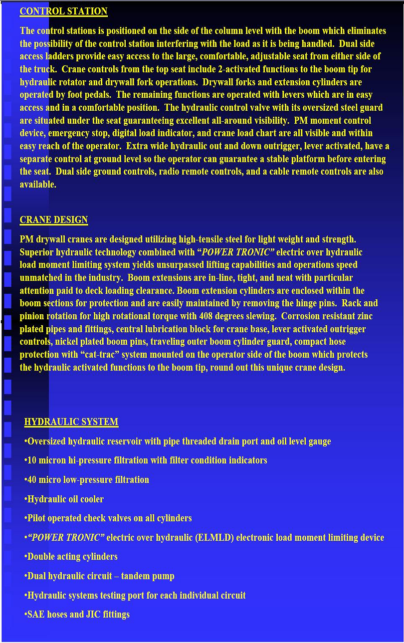 PM Drywall Crane Brochure Page 2